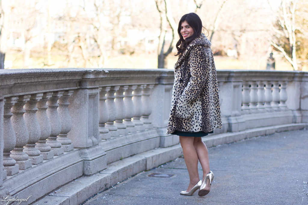 green dress, leopard fur coat, silver pumps, holiday style-7.jpg