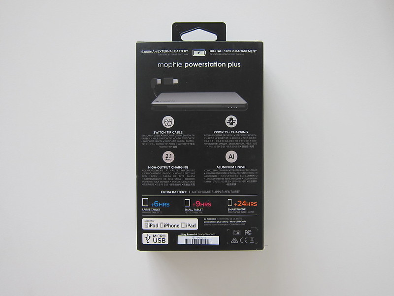 Mophie Powerstation Plus 2016 (6,000mAh) - Box Back