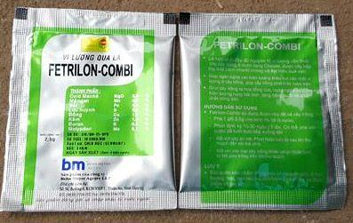 FETRILON-COMBI phan bon la bổ sung vi lượng