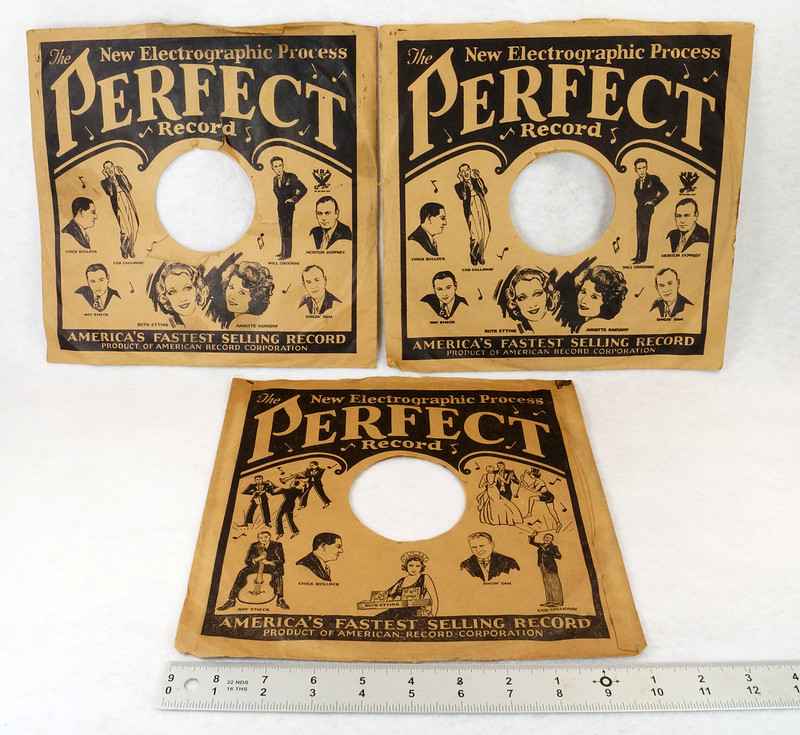 RD14635 3 Vintage PERFECT 78 RPM Album Sleeves American Record Corporation DSC06737