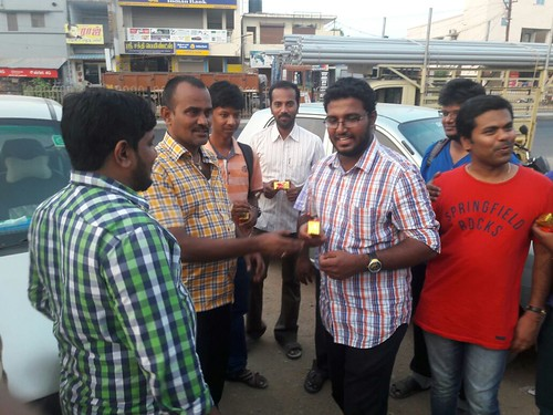 Karthi Anbu Receiving Gift