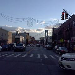 #evening #3rdAvenue #Avenue #sky #clouds #bicycle