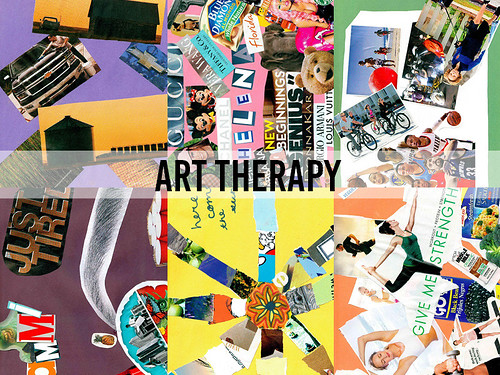 Teens in rehab create collages during Art Therapy thumbnail