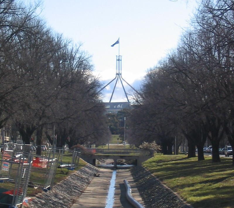 Parliament House, Canberra, August 2005