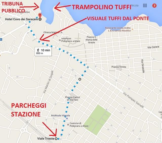 mappa tuffi