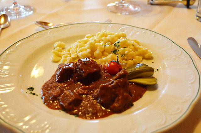 Gulash and noodles, Austria