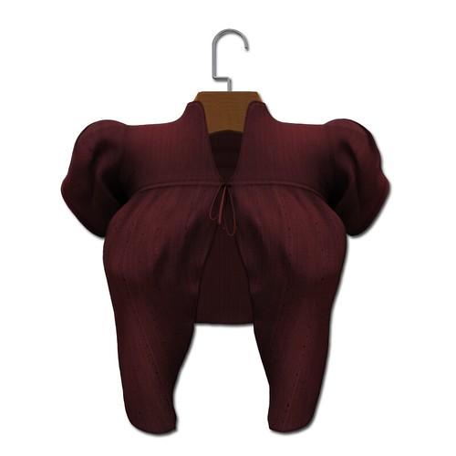 {MYNX} Tie Sweater - Maroon