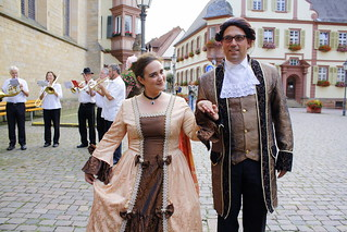 Baron und Baronesse de Bode als Brautpaar