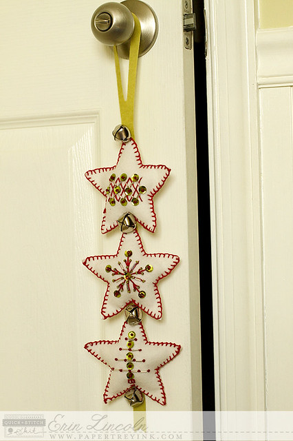 Stitched Garland Fits on Door Knob