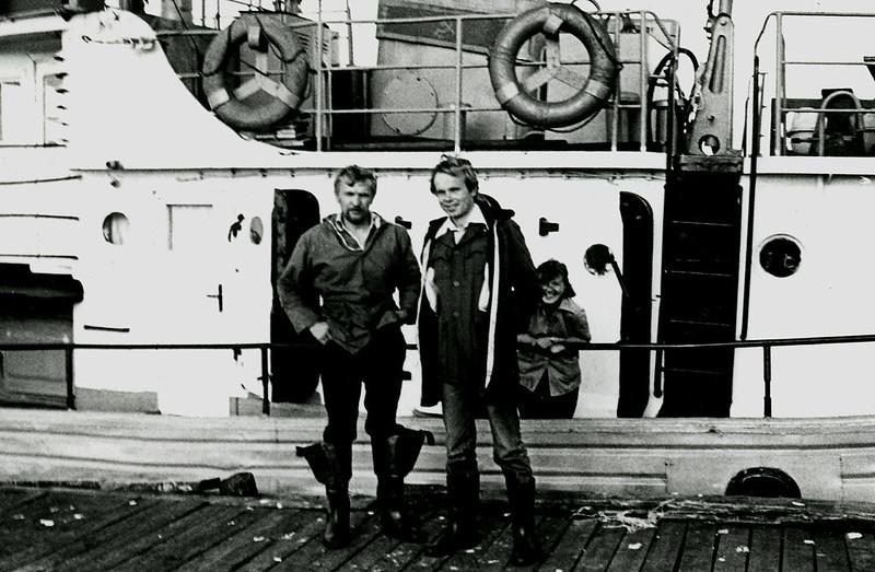 1985 прогулка на Одиссее в Ялгубу я кэп и жена Серёжи Никулина Галя.