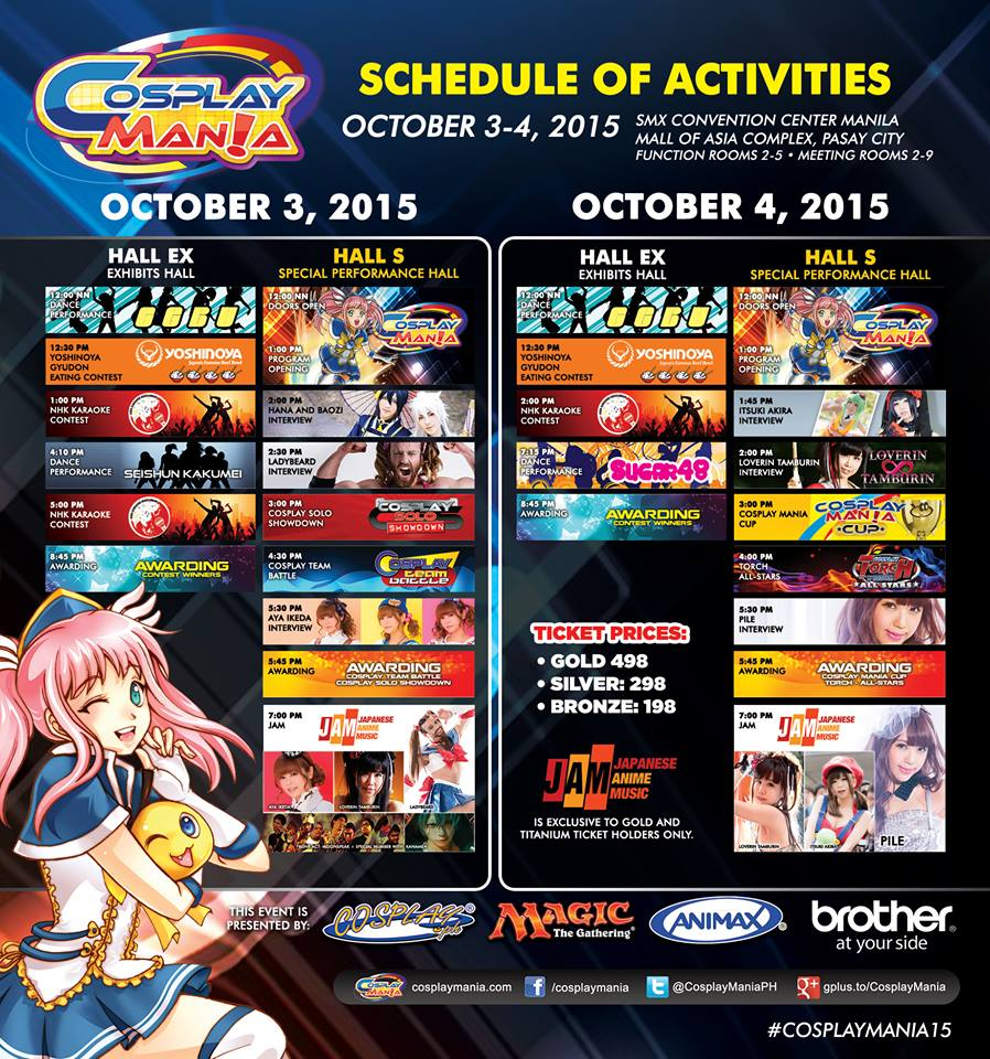 Top Five Reasons to Attend Cosplay Mania 15 Schedule