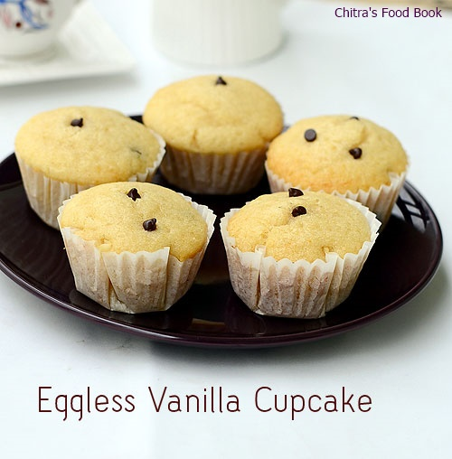 Eggless Vanilla cupcake recipe