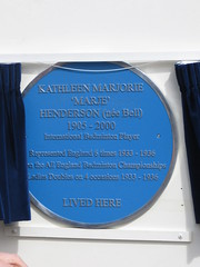 Photo of Kathleen Marjorie Henderson blue plaque
