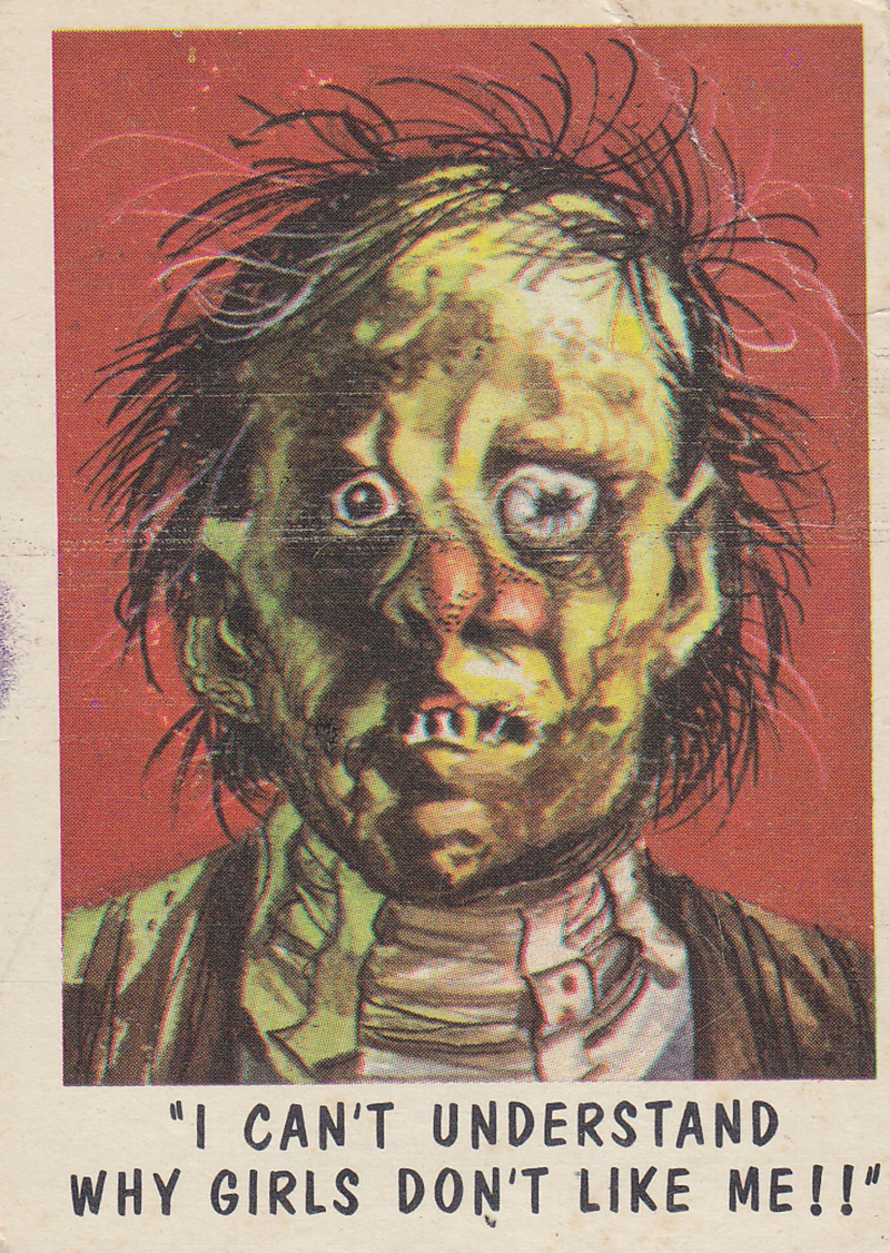 """You'll Die Laughing"" Topps trading cards 1959,  illustrated by Jack Davis (63)"
