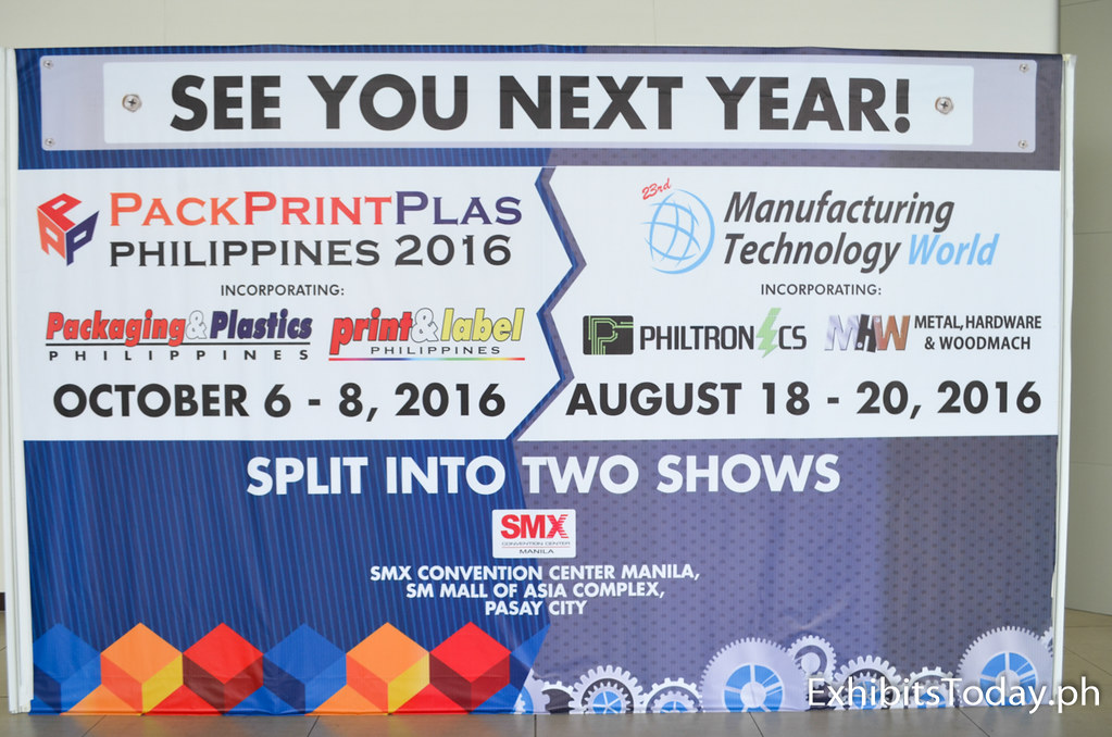 See you next year on PackPrintplas Philippines 2016 and Manufacturing Technology World 2016