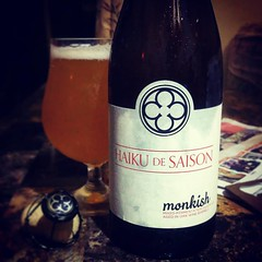 I'm humbled and appreciative for @monkishhenk & @brian_monkish for knowing (or they got lucky) that I LOVE 💛 #Saison let alone #Brett or #MixCultured Saisons! Damn #ILoveThisBeer!!! #CheersYo #CraftBeer @monkishbrewing...before I let you go..