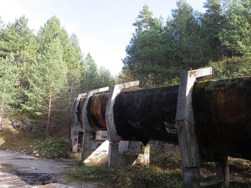 pista de bobsleigh abandonada