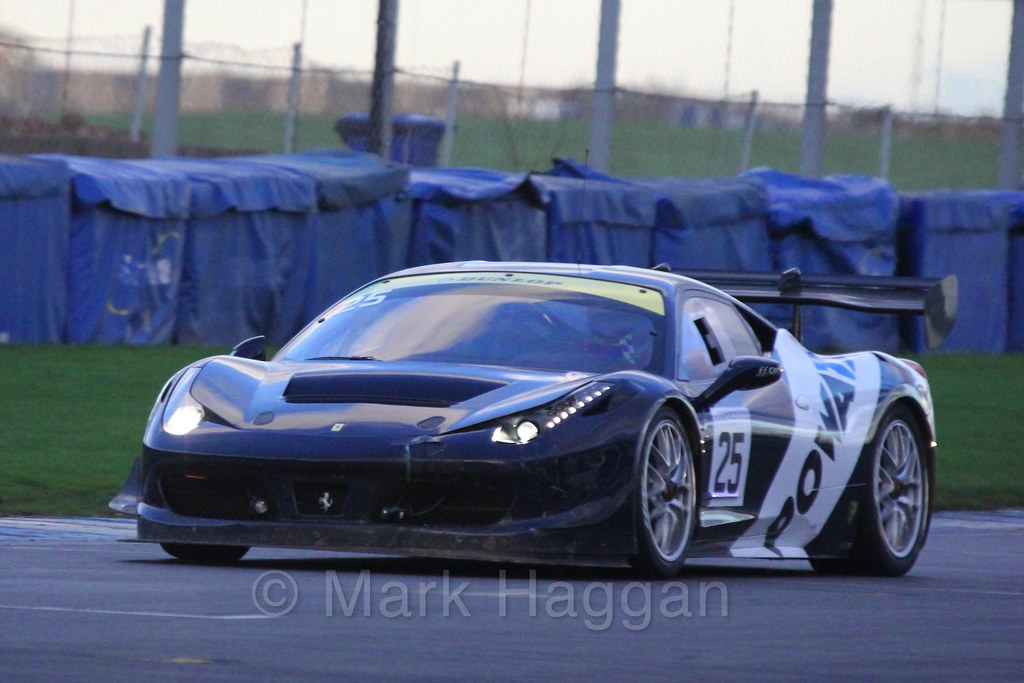 The FF Corse Ferrari 458 Challenge of Ivor Dunbar and Johnny Mowlem in Britcar Racing during the BRSCC Winter Raceday, Donington, 7th November 2015