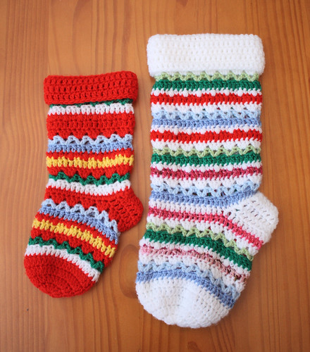 Large & small Christmas stockings
