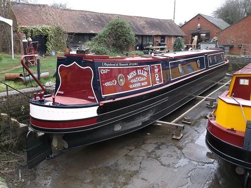 Drydocked boat aft deck