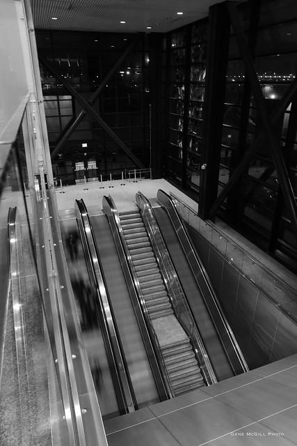 SEATAC: escalators to the train