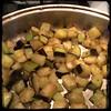 #homemade #caponata #caponatina #CucinaDelloZio - Pre-fry the #eggplant