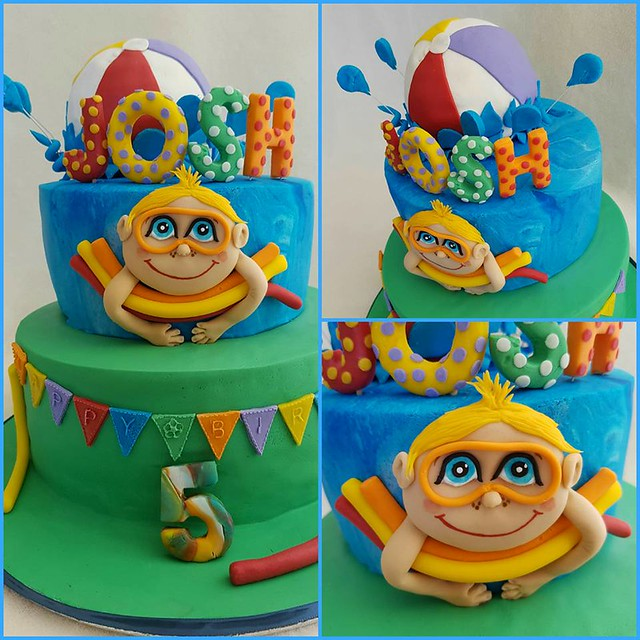 Pool Party Cake by Ellie Rainbow of Rainbow Cakes