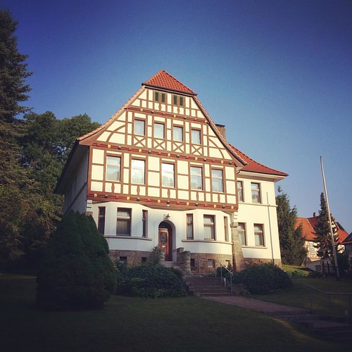 .half-timbered house.