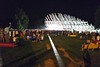 Die Bauskulptur ist das Herzstück des Karlsruher Festivalsommers und der Pavillon ist vom 17. Juni bis zum 27. September 2015 täglich geöffnet. Er ist Informationsportal, Treffpunkt, Veranstaltungsort und Aussichtsterrasse