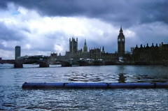 River Thames, Westminster Bridge, Houses of Parliament and Elizabeth Tower.