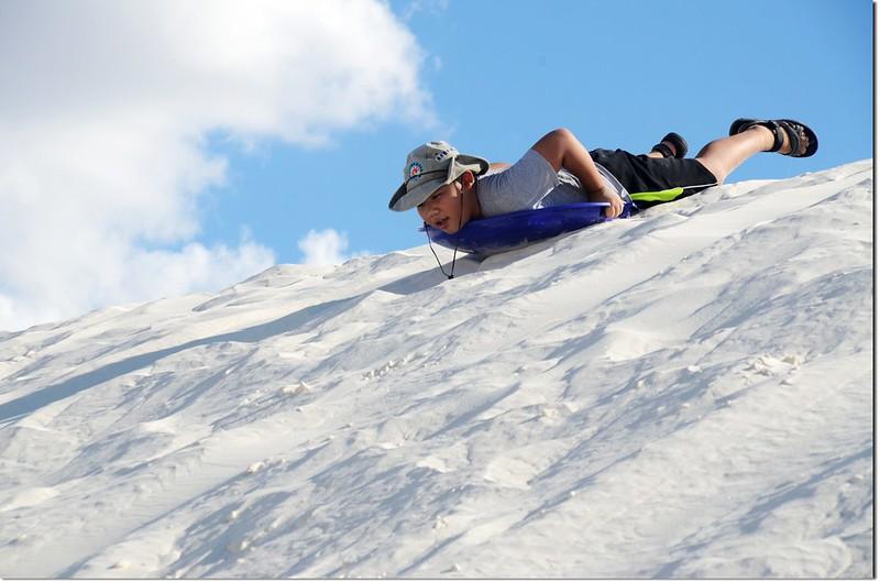 Sledding at White Sands National Monument  5