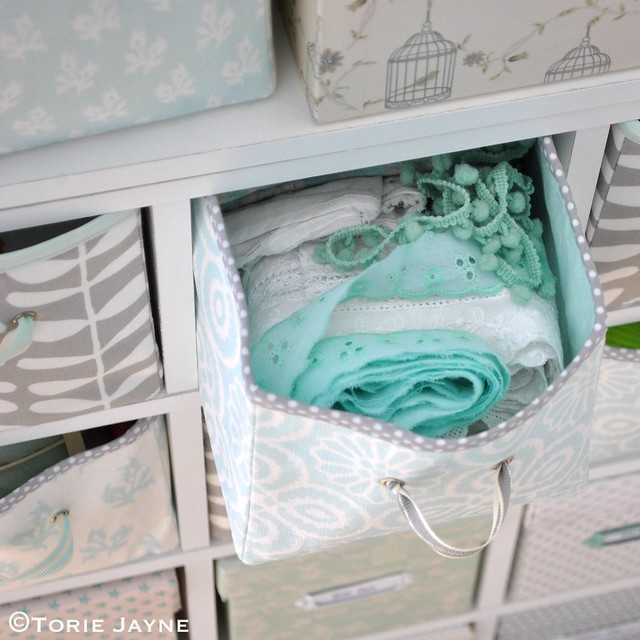Handmade Fabric drawers