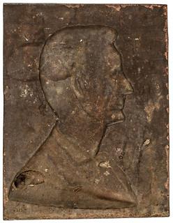 Lincoln cornerstone plaque back