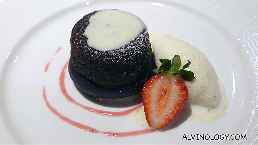 Sticky Date Pudding (S$15) - with Vanilla Brandy Sauce, Vanilla Ice-cream
