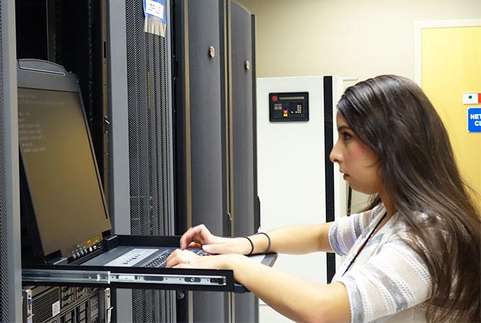 Laboratory intern Destiny Velasquez.