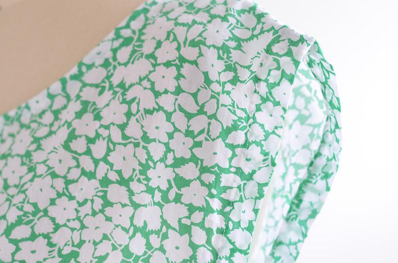 Green Floral Handmade Top 4