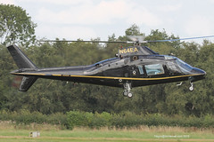 N64EA - 1984 build Agusta A109A II, inbound to the JetA1 at Barton