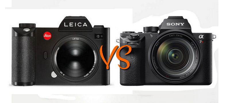 Leica SL VS Sony A7R II : Lequel est le plus volumineux ?