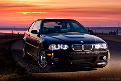 E46 M3 sunrise in Fort Mcmurray