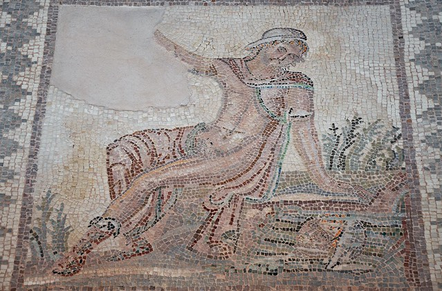 Mosaic of Narcissus, from the House of Dionysos, late 2nd/early 3rd century AD, Paphos Archaeological Park (Nea Paphos), Cyprus
