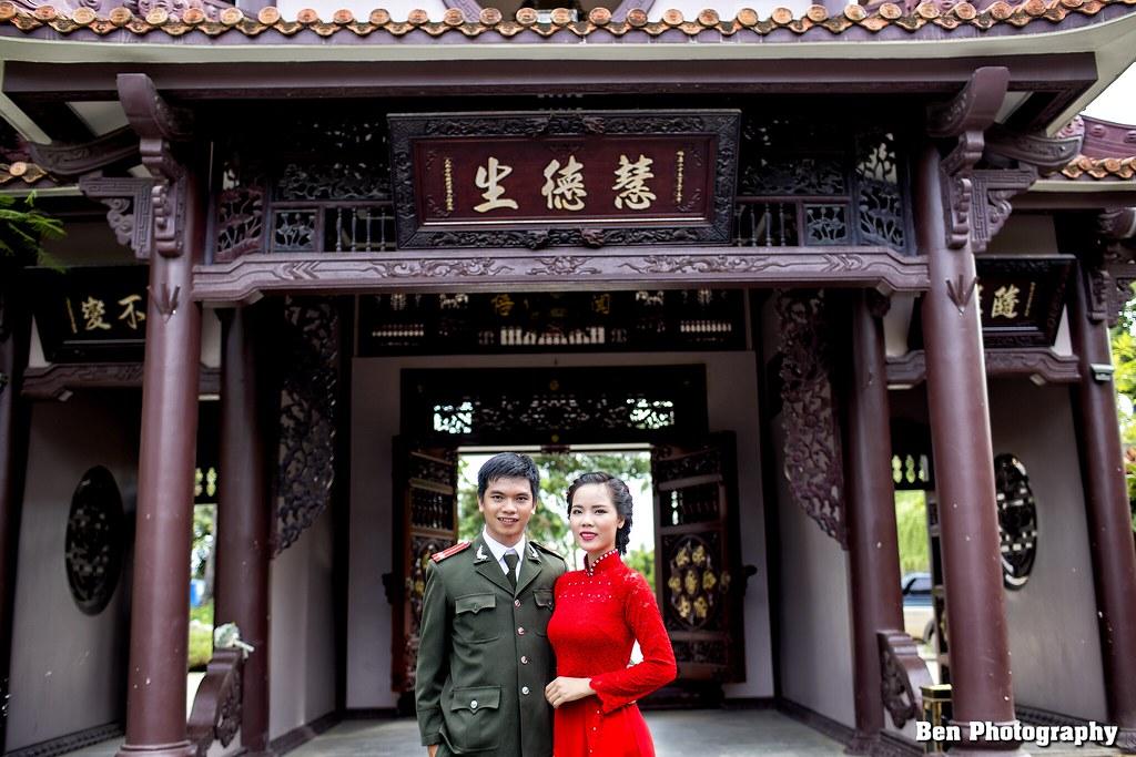 Chụp ảnh cưới tại chùa Thiên Hương - An Nhơn