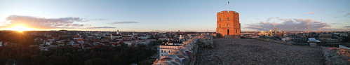 city winter tower architecture europe december lithuania vilnius