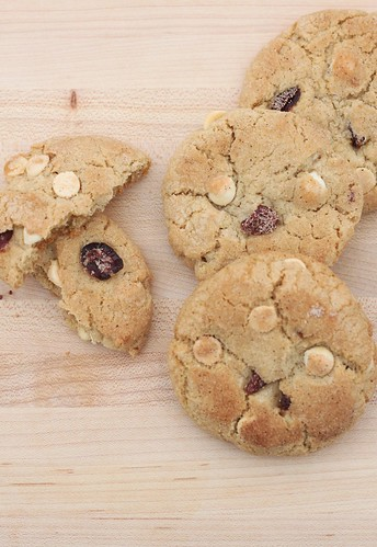Spiced Cranberry White Chocolate Cookies