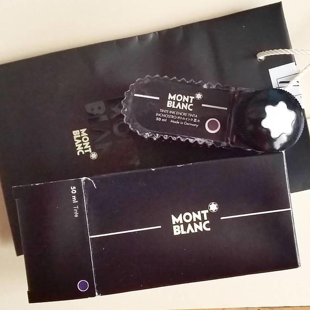 Vintage ink score: montblanc violet #vintage #montblanc #Fpgeeks #FPN #fountainpennetwork #fountainpenink #violet