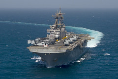 In this file photo, USS Essex (LHD 2) operates in the Arabian Gulf in September. (U.S. Navy/MC2 Sean P. Gallagher)