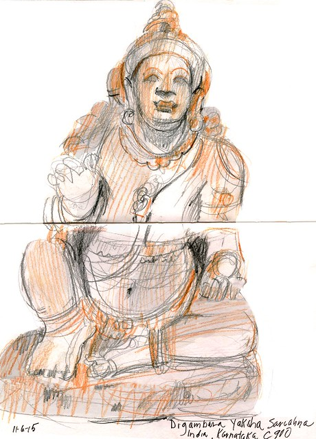 Pasadena sketches: Norton Simon Indian figure c 900