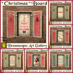 *Christmas* Boards - Dreamscapes Art Gallery