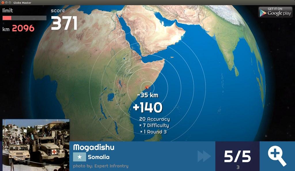 Globe Master 3D - Mogadishu