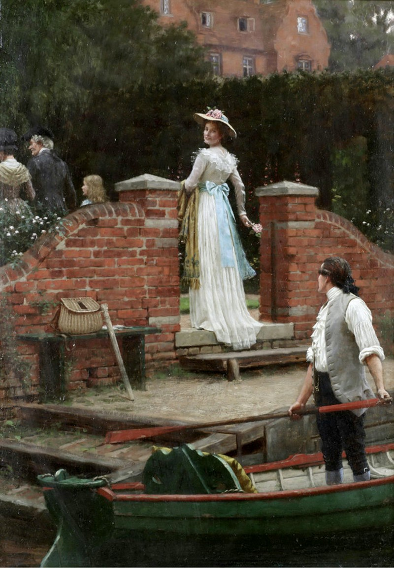 The glance that enchants by Edmund Blair Leighton