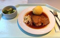Pork roast in dark beer sauce with potato dumpling…
